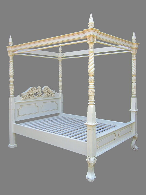 Antique Reproduction 4 Poster Bed Queen Anne Style-Double Size-Price Reduced