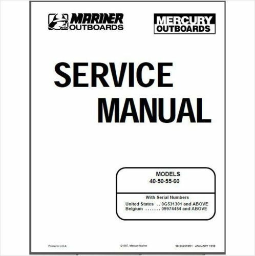 mercury mariner 40 50 55 60hp 2 stroke oem service shop repair rh picclick com HP 251-A123w Manuals HP Laptop User Manual