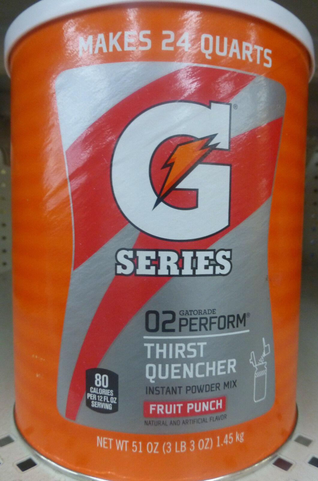 257f1645e58cbf HUGE GATORADE 51 oz Powder Drink Mix FRUIT PUNCH - Makes 24 quarts 1 of  1Only 3 available ...