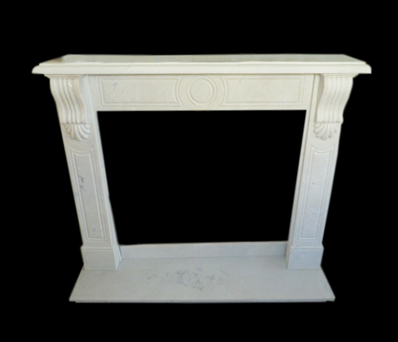 Cornice Caminetto Camino in Marmo Bianco Classico Old Fireplace Marble ...