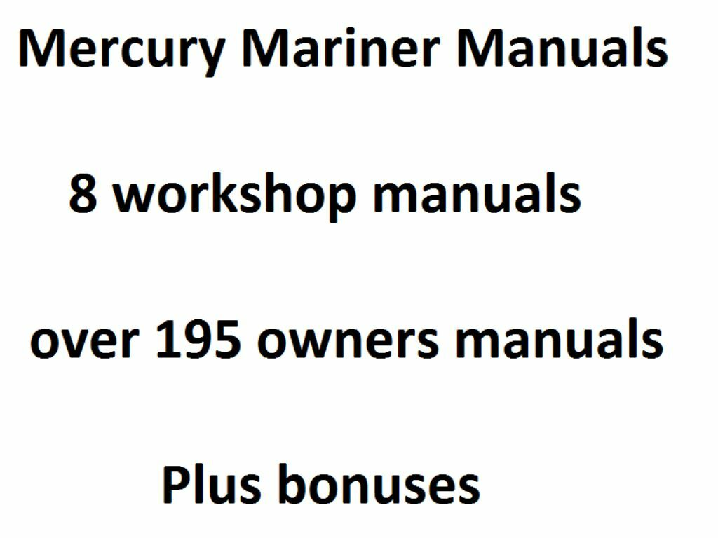 Mercury mariner outboard 75hp 275hp 1990 1997 service manual 1 of 1 see more fandeluxe Gallery