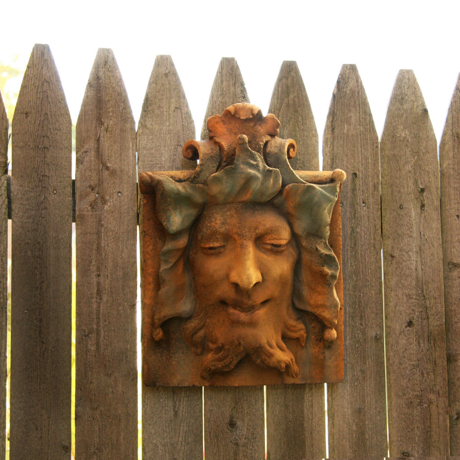 Greenman Face Garden Wall Art Decor Sculpture Plaque By Orlandi FS8323 1 Of  1FREE Shipping ...