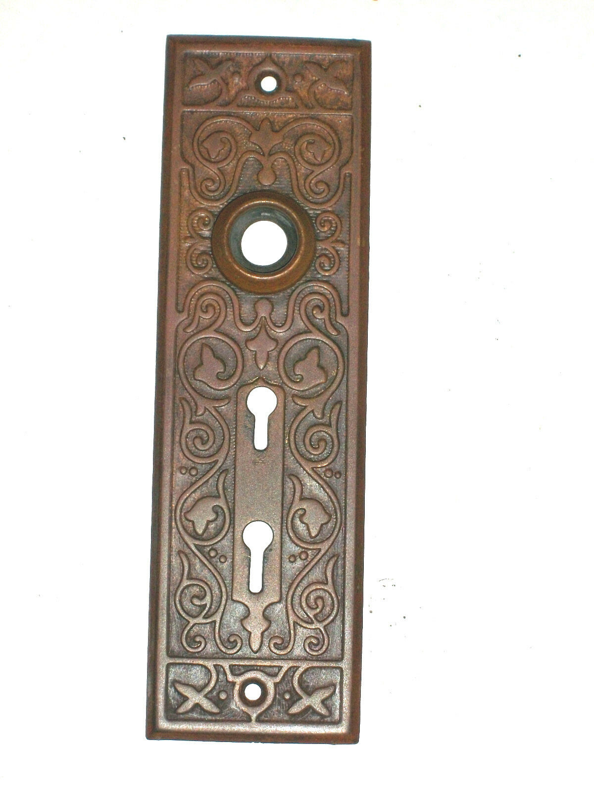 """Antique EastLake Stamped Entry Plate 2 3/16"""" x 7  1/2"""""""