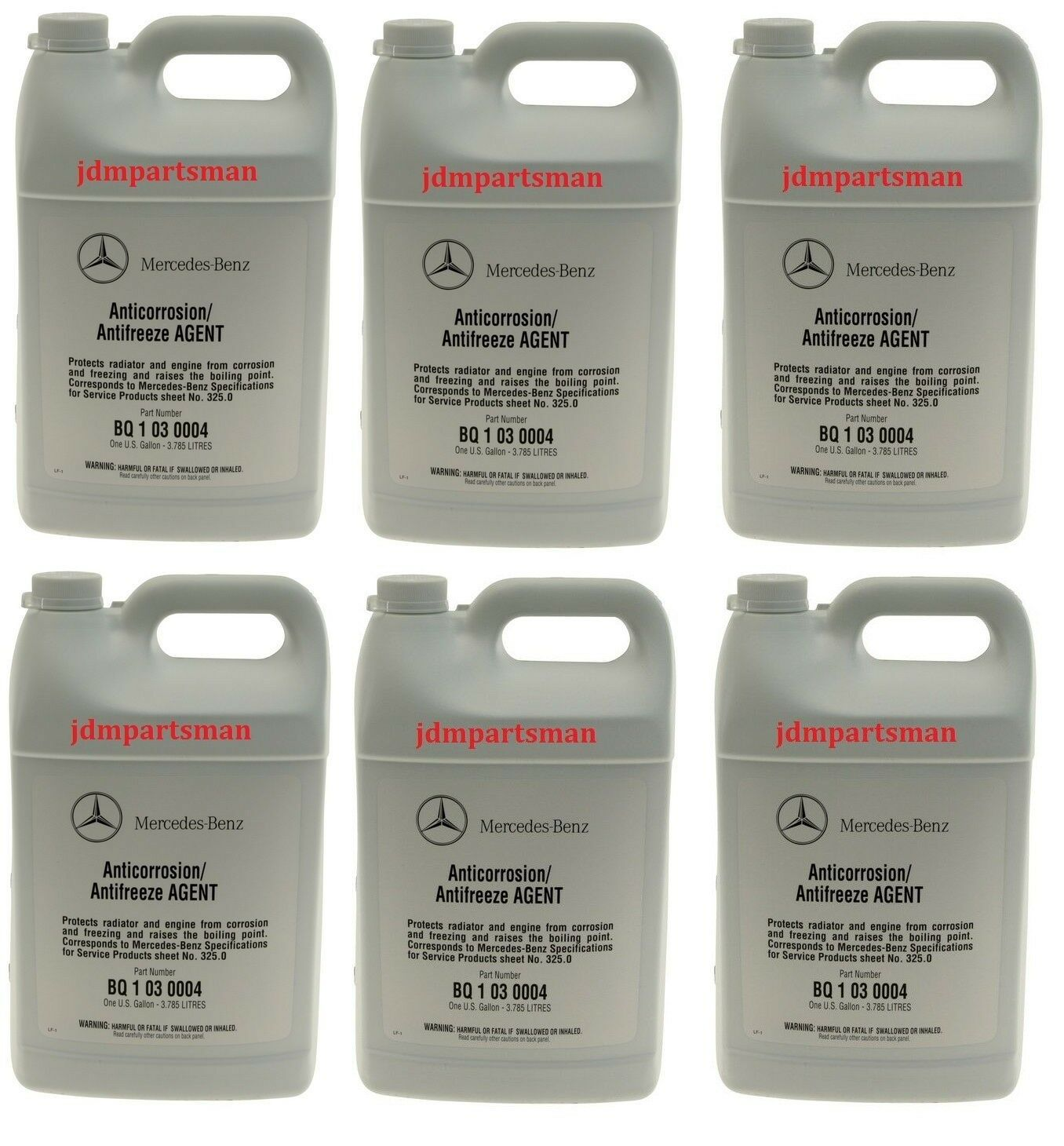 6x Genuine Mercedes-Benz Blue Colored Engine Coolant Antifreeze Gallon  BQ1030004 1 of 1 See More
