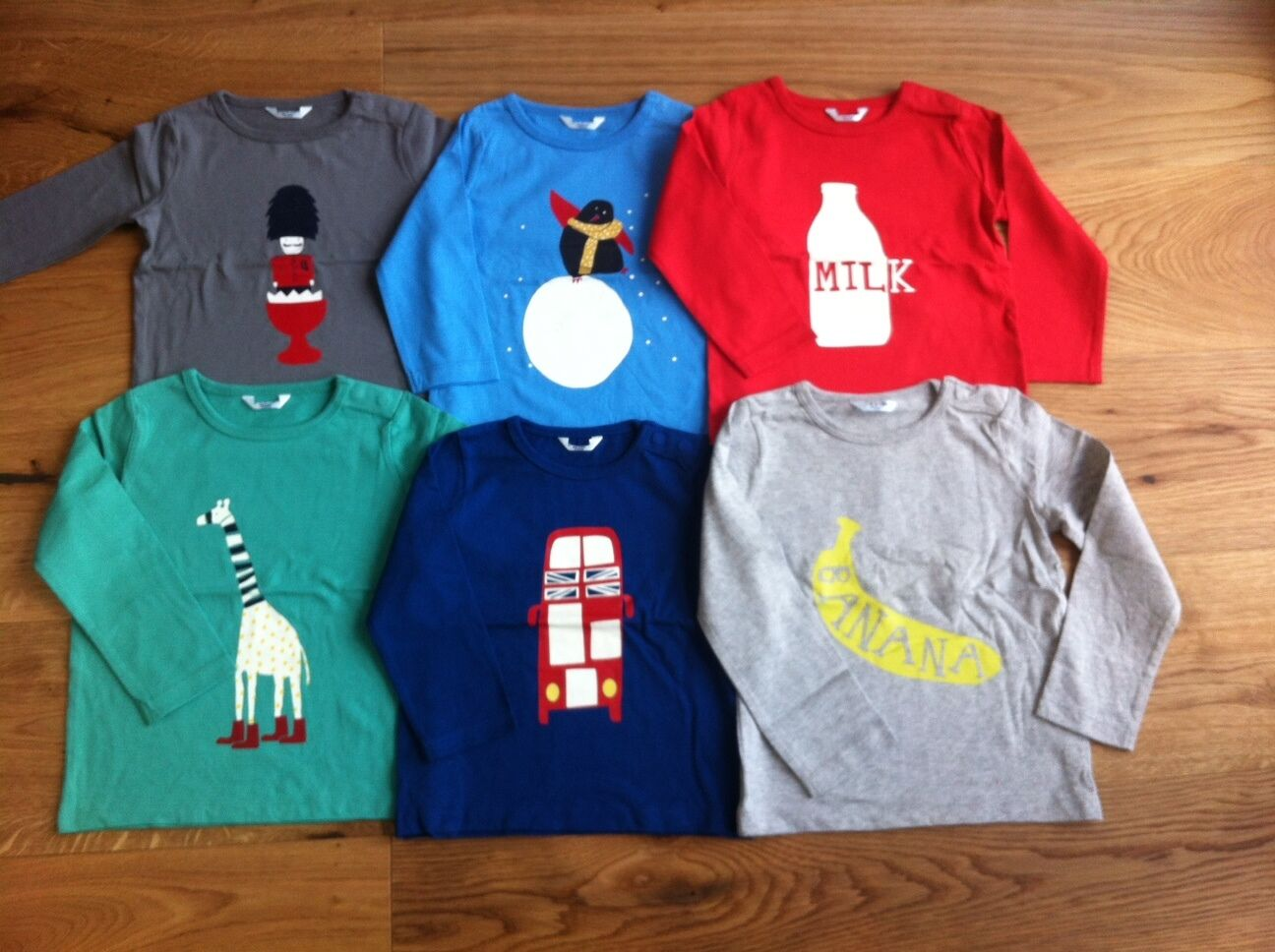 Ex Baby Boden Blue Elephant Tops T Shirts 3-6 18-24 12-18 6-12 2-3Yrs