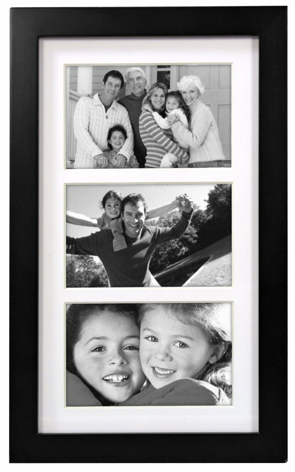 MALDEN LINEAR WOOD Matted 4x6 Collage Black Picture Frame , New ...