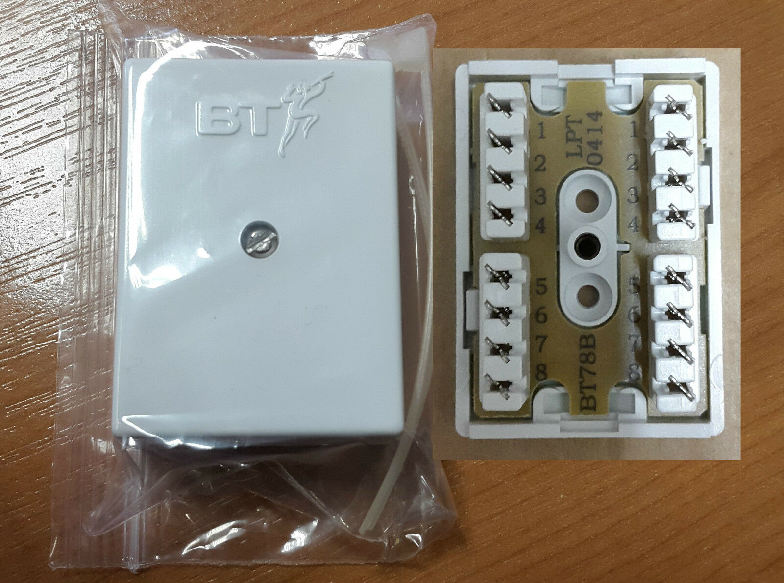 Genuine Bt78a Connection Box 8 Way 4 Pair Telephone Or Cat5e Wiring Junction 1 Of 4free Shipping