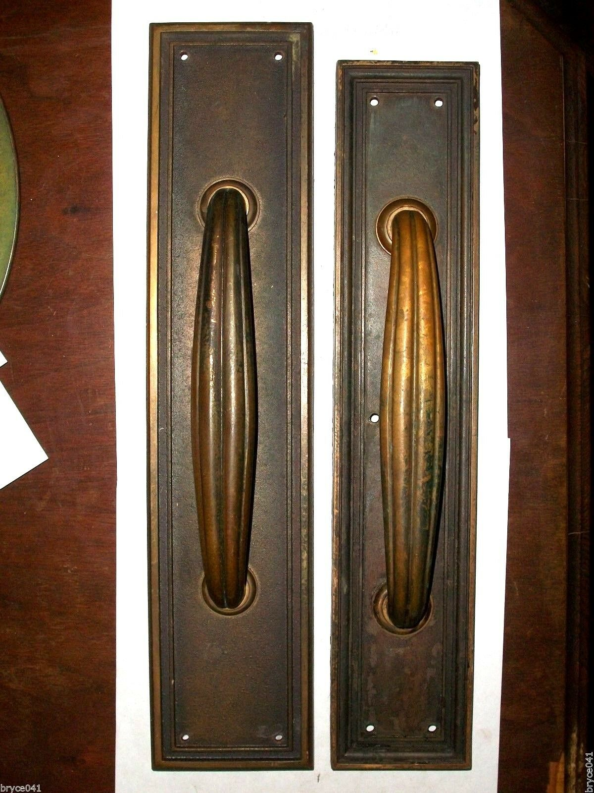 Antique Yale Push and Pull Handle Plates #37