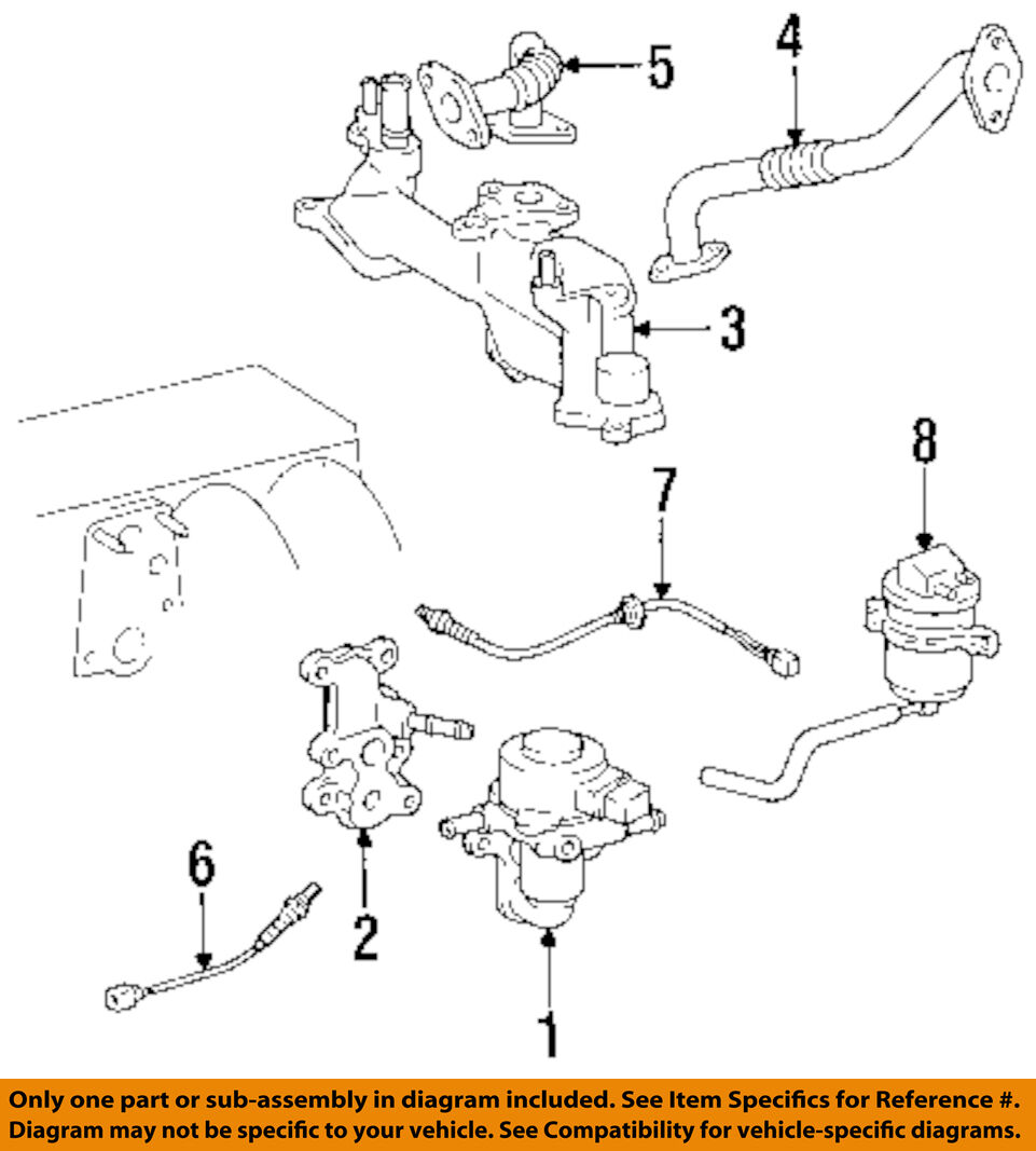 Lexus Toyota Oem 95 00 Ls400 Egr System Tube 2560150060 11900 Wiring Diagram 2004 Vw Passat Turbo Intercooler 1997 1 Of 1only Available