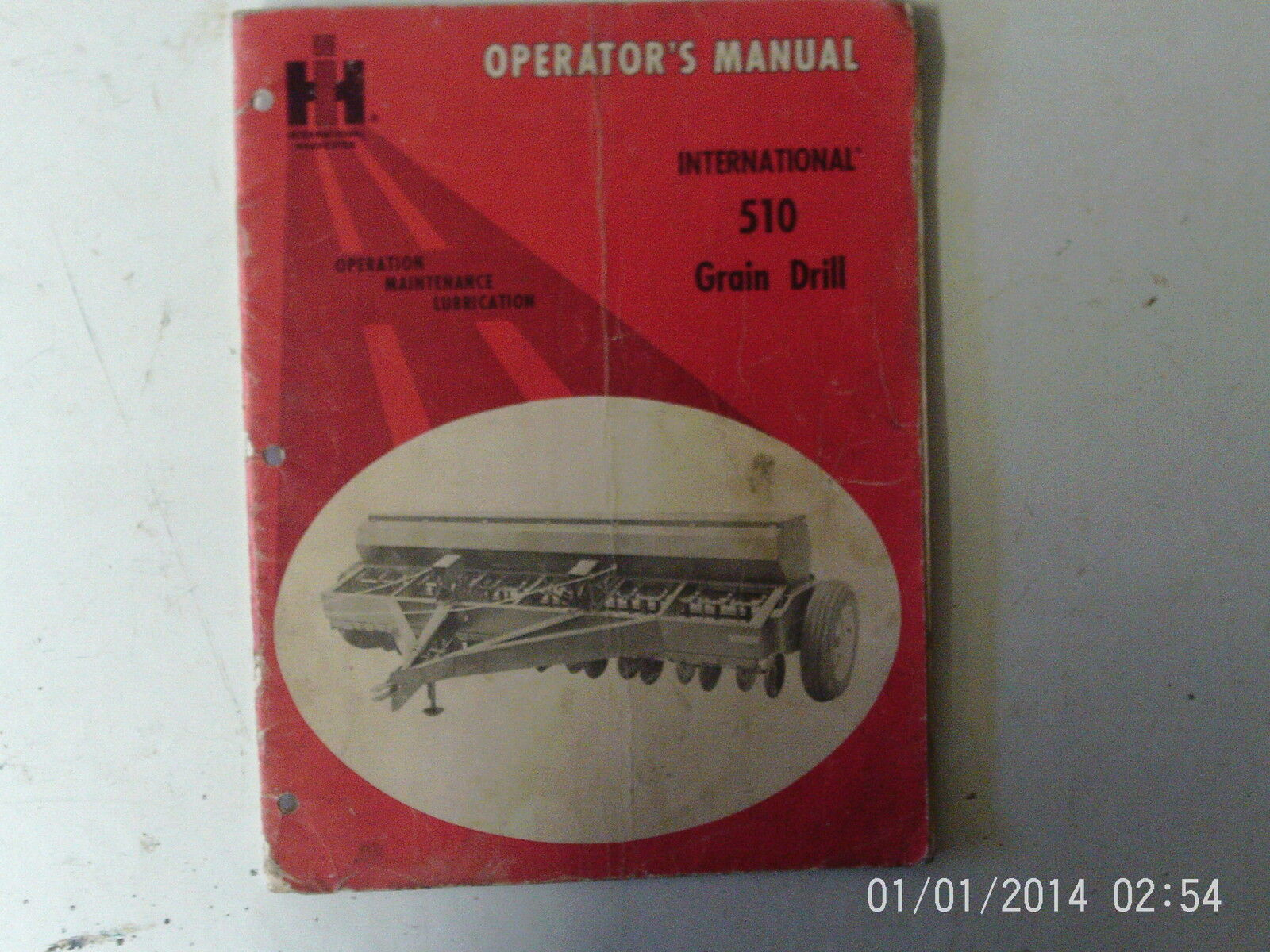 International 510 Grain Drill Operator's Manual 1 of 1Only 1 available ...