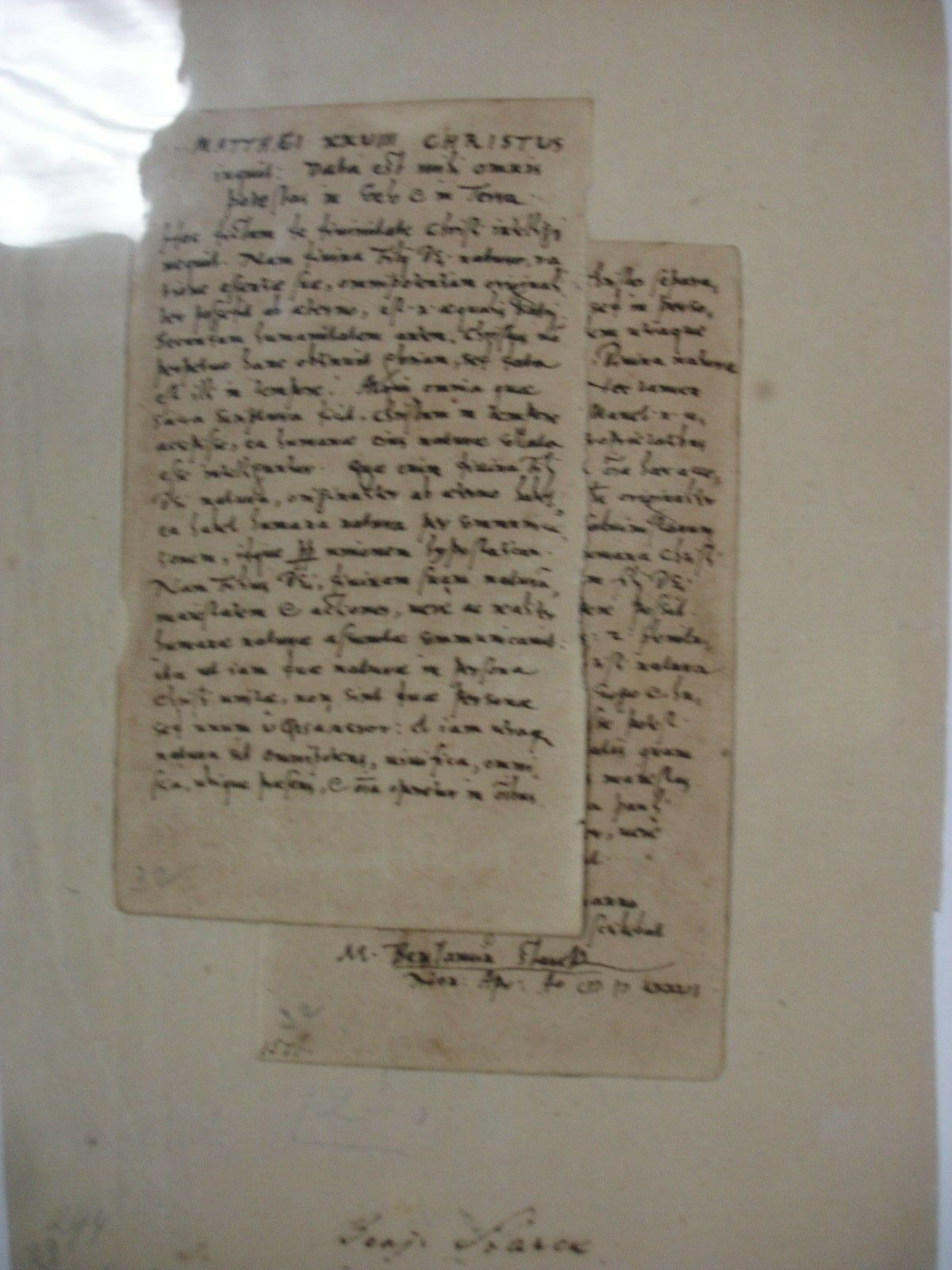 Benjamin Stark 1576 Manuscript Notes - Bible