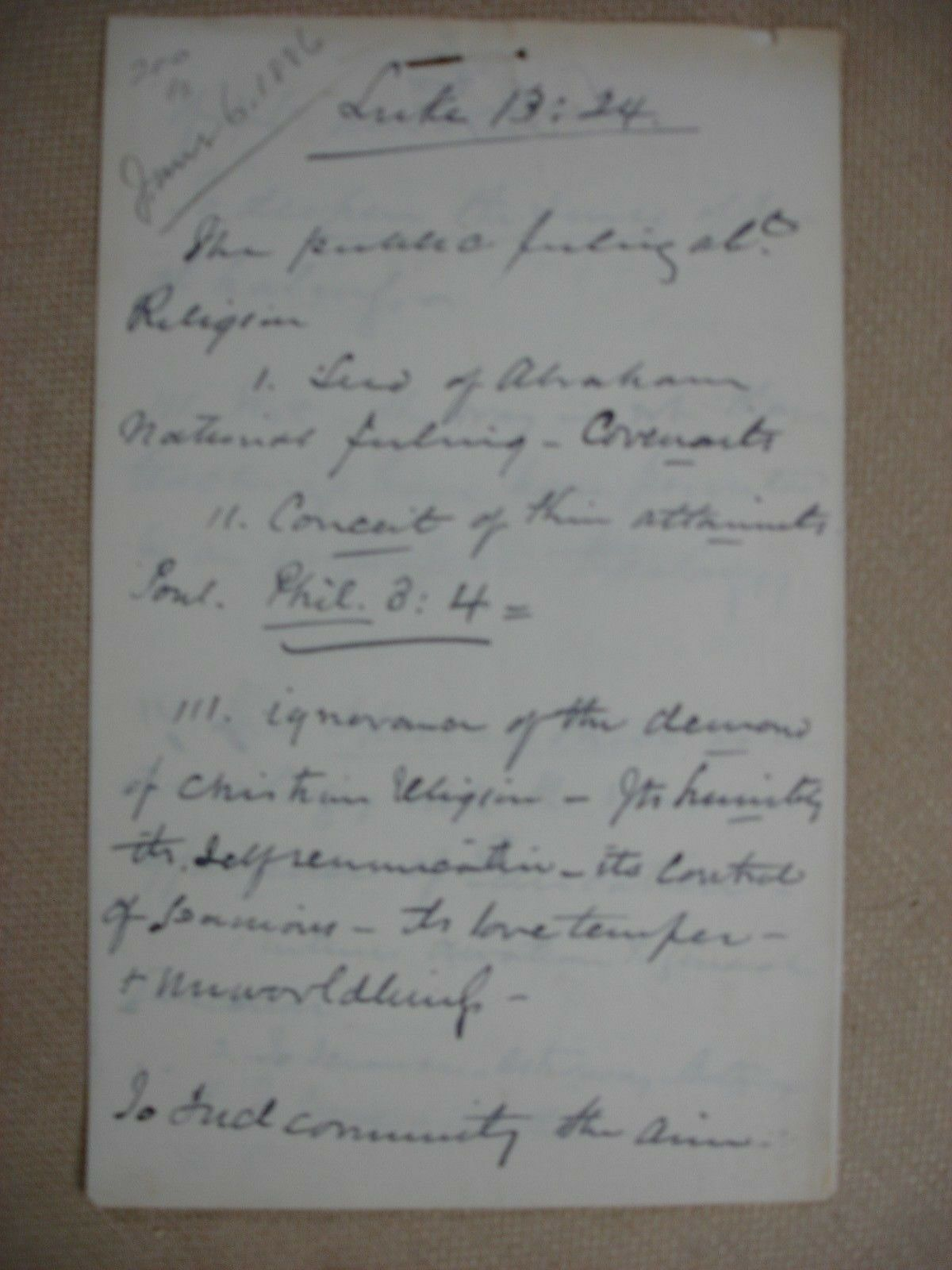 Henry Ward Beecher Sermon Notes (and more) - 1886