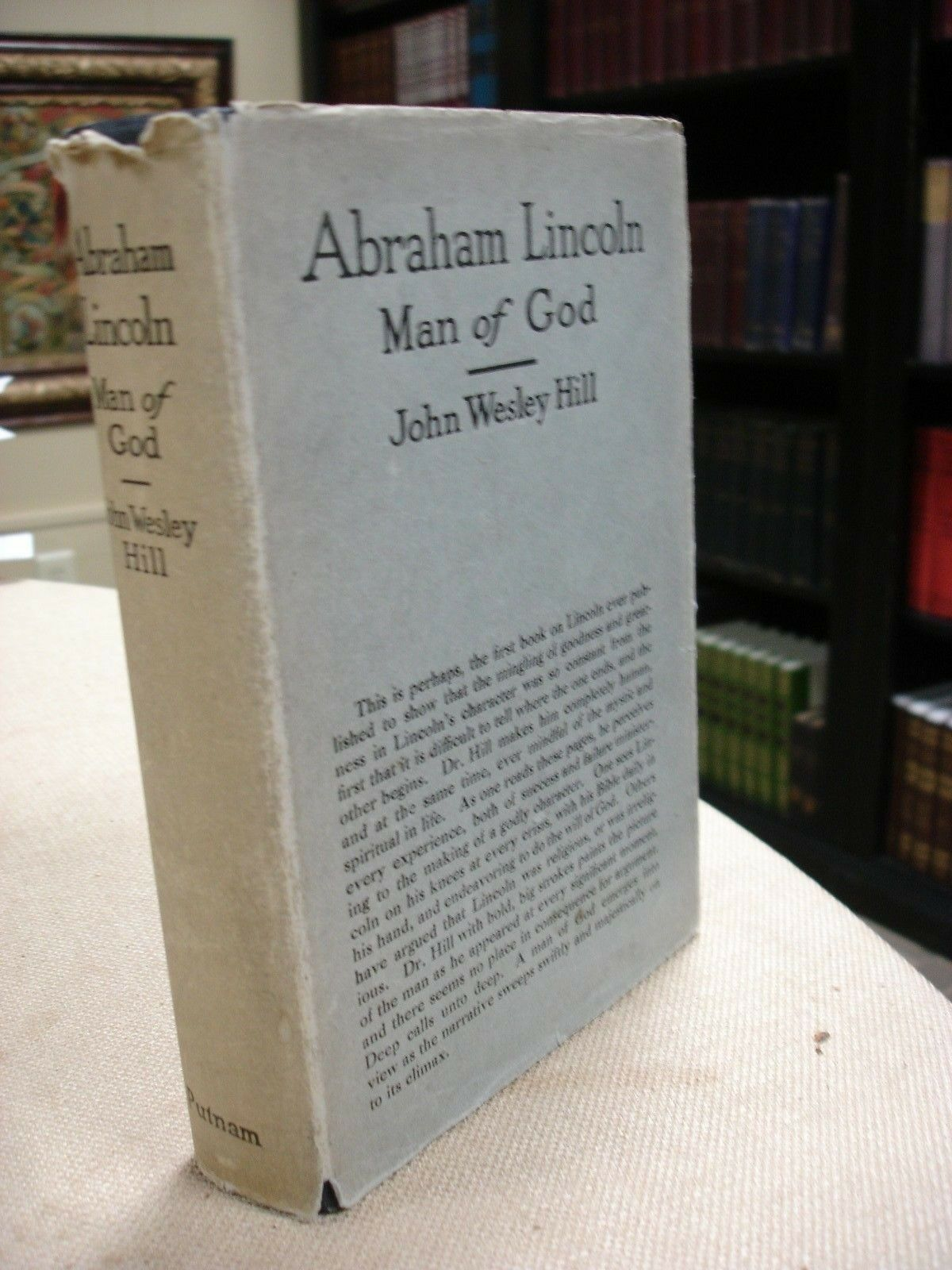 Abraham Lincoln Man of God written and signed by John Wesley Hill