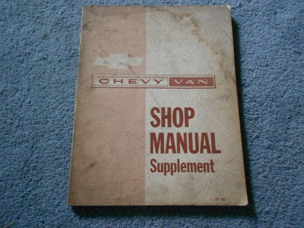 1963 Chevrolet Chevy Van Shop Service Repair Manual Supplement Original  Factory 1 of 12Only 1 available ...