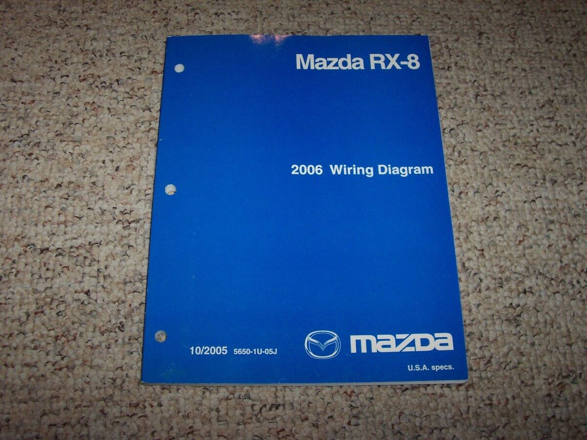 2006 Mazda Rx 8 Rx8 Factory Original Electrical Wiring Diagram Diagrams For Manual Book 1 Of 1only Available