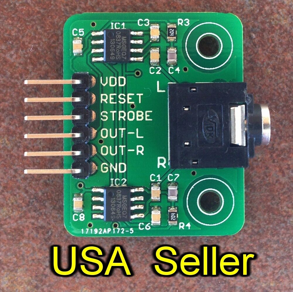 Stereo Msgeq7 Breakout Board 7 Band Graphic Equalizer For Arduino 221510 Equaliser Rpi 1 Of 5