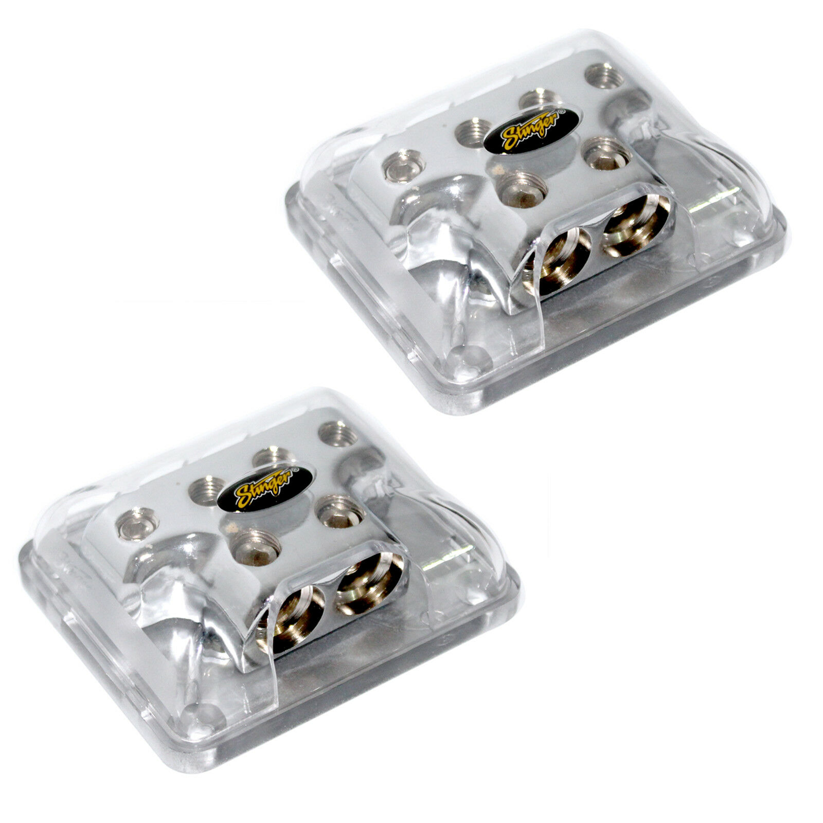 Two 2 Stinger 0 Gauge To 4 Power Ground Amp Wire Distribution Wiring Block Spd514 1 Of 4only 3 Available See More