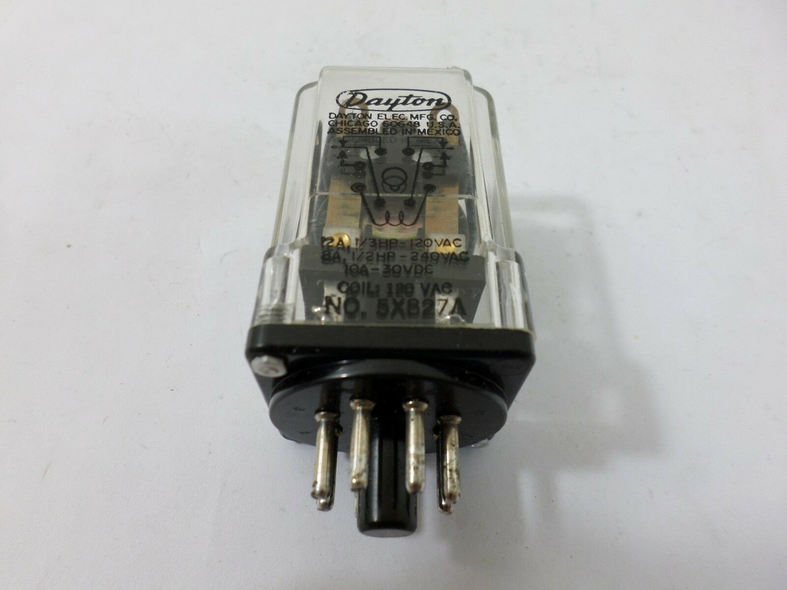 1egc5 Dayton Relay Wiring Diagram Library 12vdc Dpdt Relays Diagrams 5x827a 120vac 60hz 1 Of 9only Available