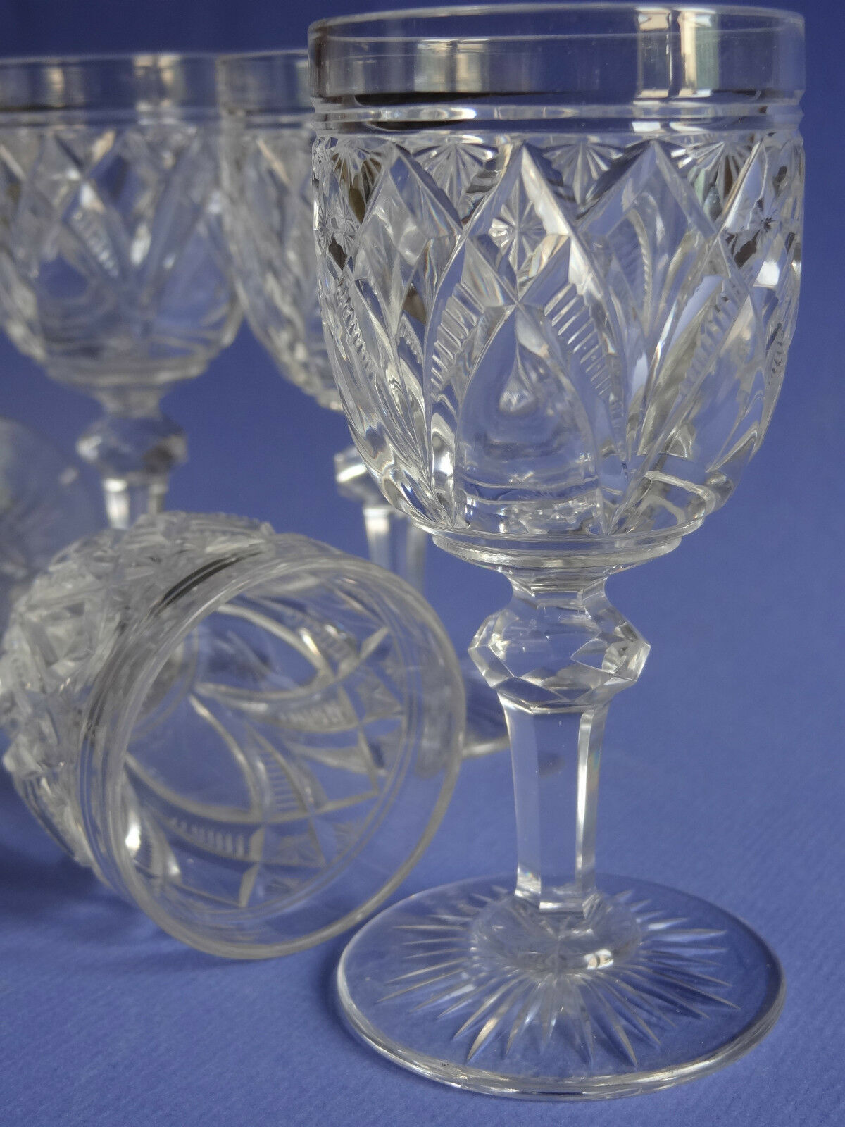 6 anciens verres a liqueur en cristal de baccarat modele. Black Bedroom Furniture Sets. Home Design Ideas