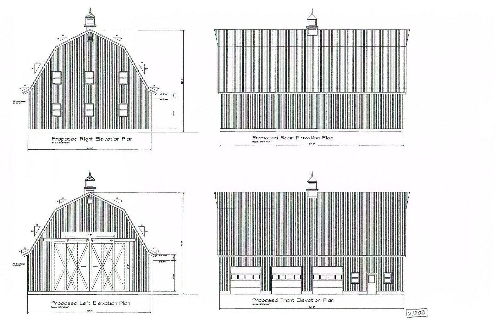 Barn Gambrel Roof Pole Barn 40 X 60 Pole Barn Plan 21203