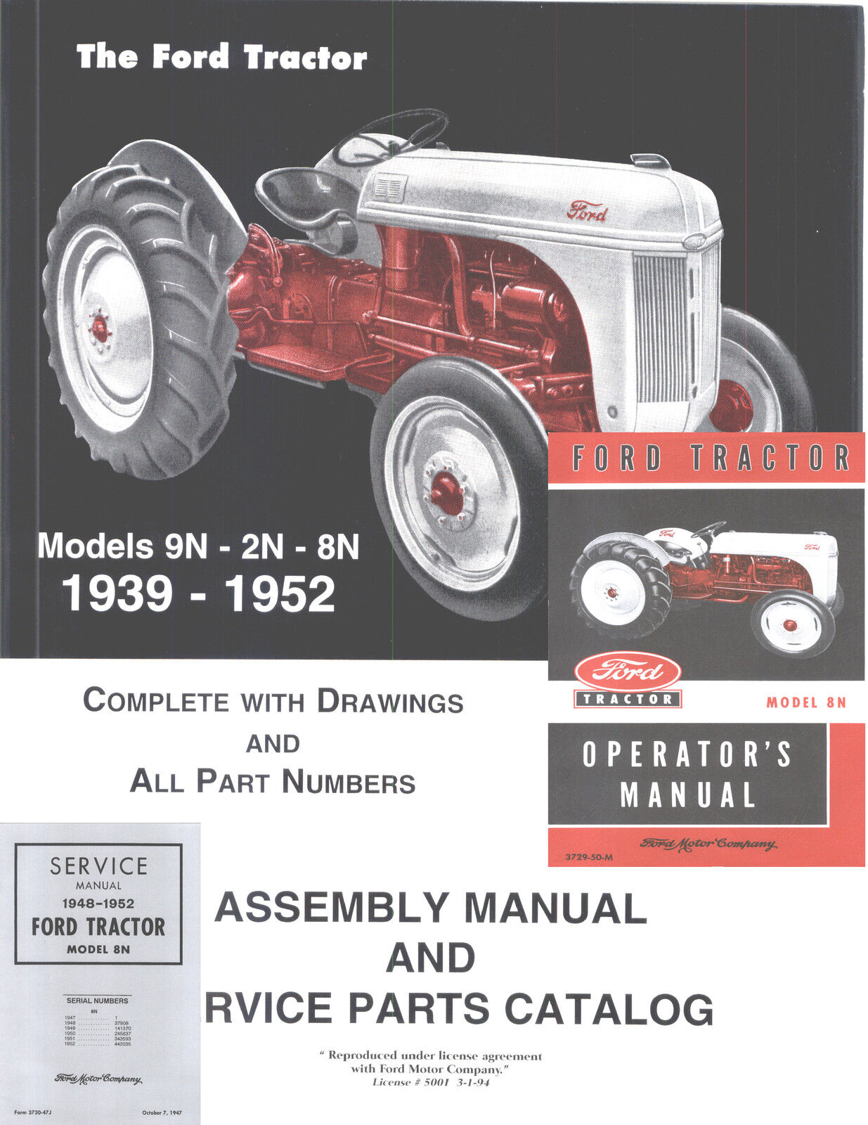 Owners Manual 8n Ford Tractor Today Guide Trends Sample 1949 2n Wiring Diagram 9n Service Repair Workshop Manuals