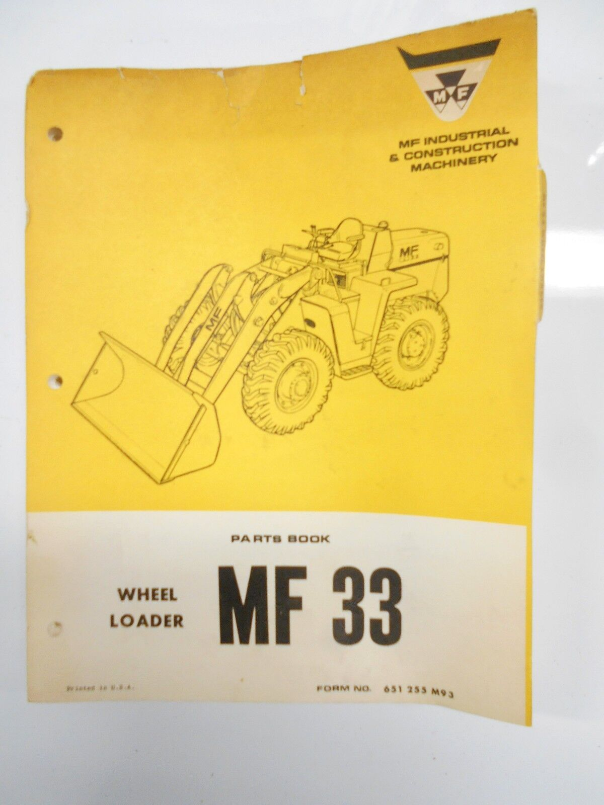 Massey Ferguson Parts Book Manual Mf 30 Wheel Loader Tractor 1970 1 of  1Only 1 available ...
