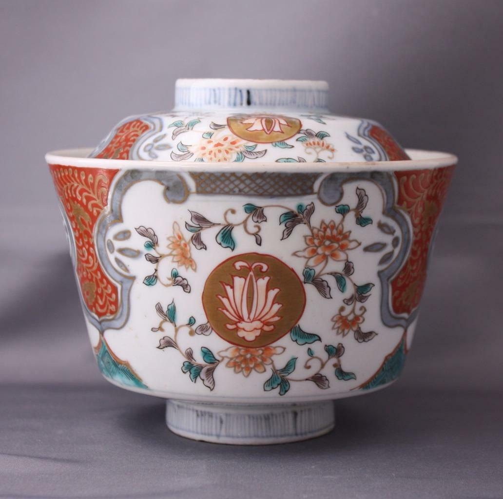 Antique Rice Bowl Hand Painted