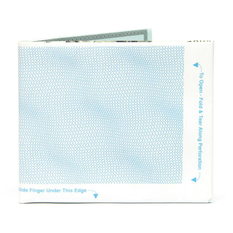 the cheque bifold paper wallet new the walart mighty tyvek