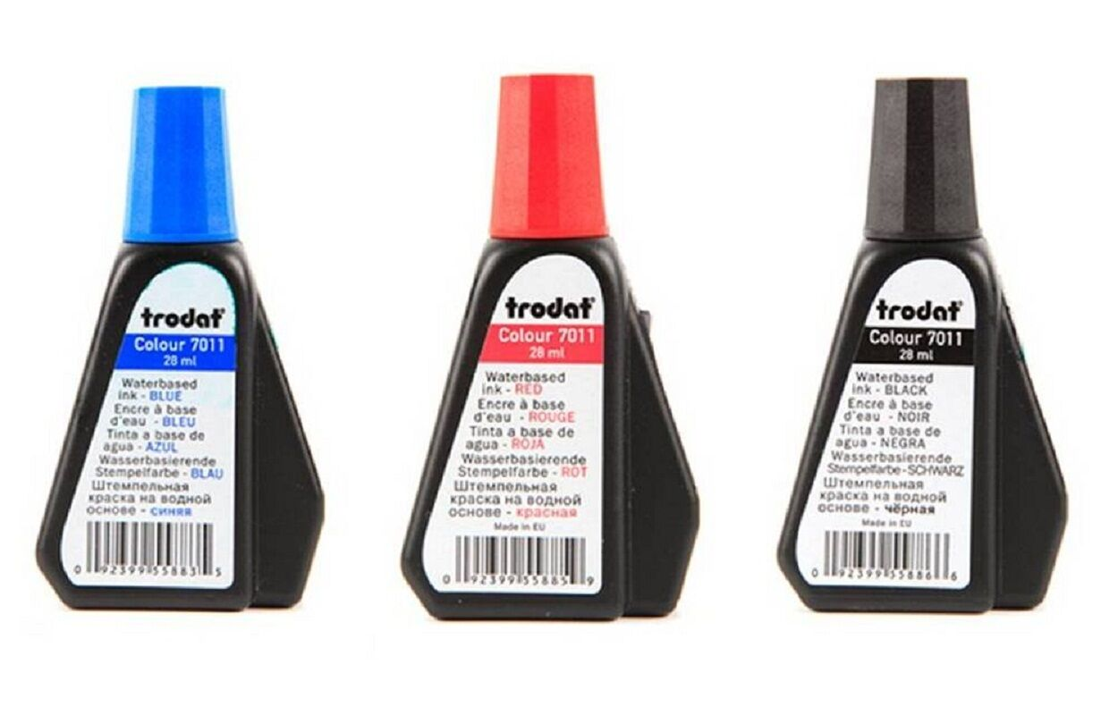 trodat refill ink for self inking stamp permanent waterproof 28 cc