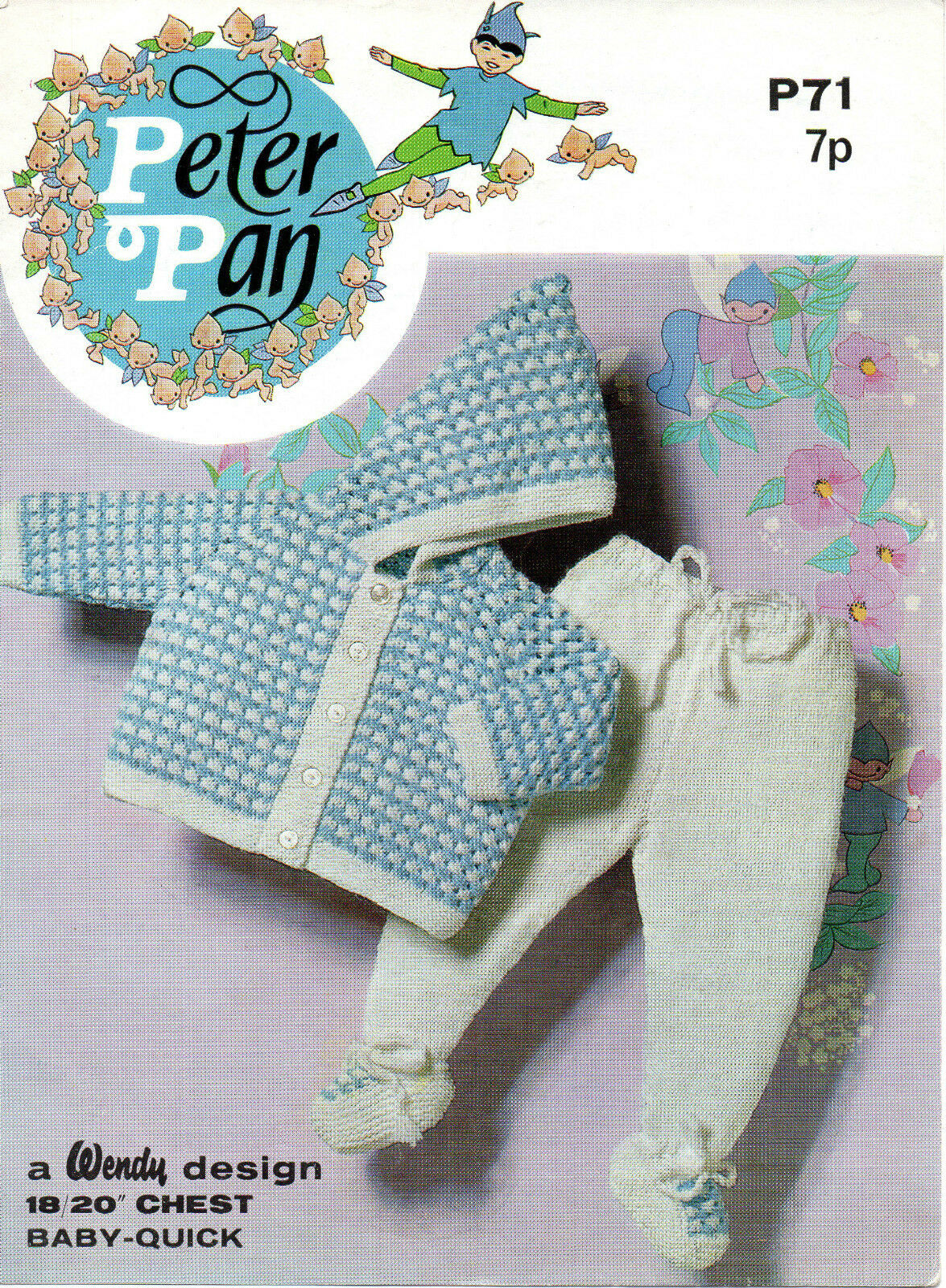 Peter Pan Baby Knitting Patterns : Peter Pan P71 Vintage Baby Knitting Pattern QK/DK 18-20