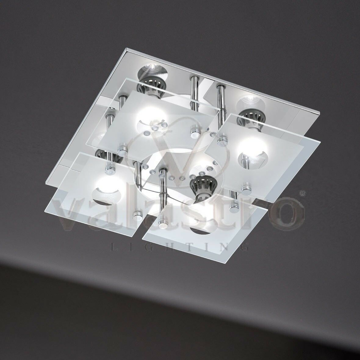 Lampada led da soffitto plafoniera per interni lampadari for Lampadari a led per interni