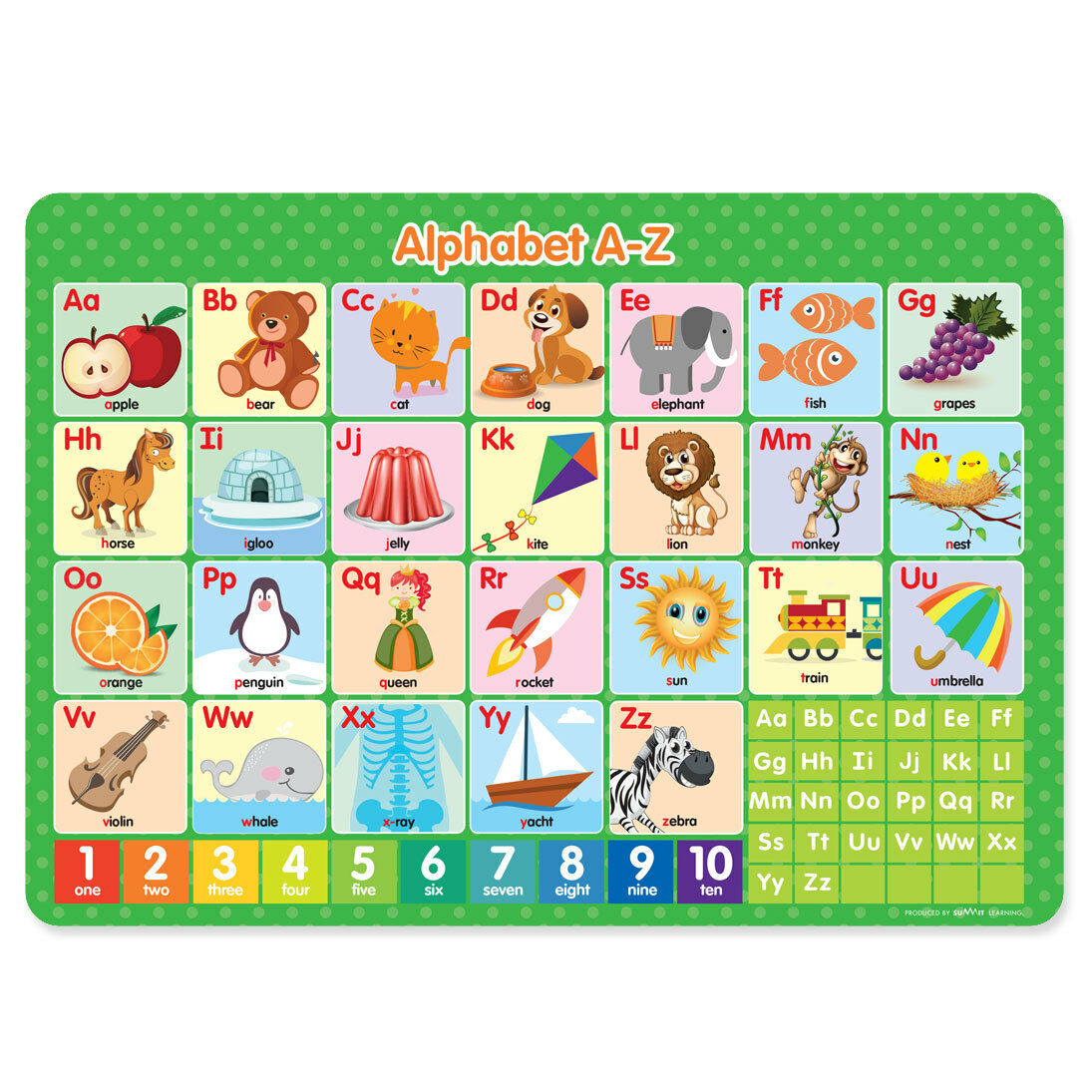 Worksheet Learn Your Alphabet learn your alphabet a z childrens educational poster placemat plac