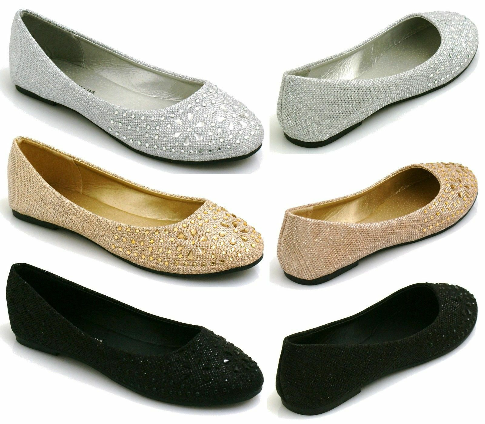 Primark Sparkly Flat Shoes