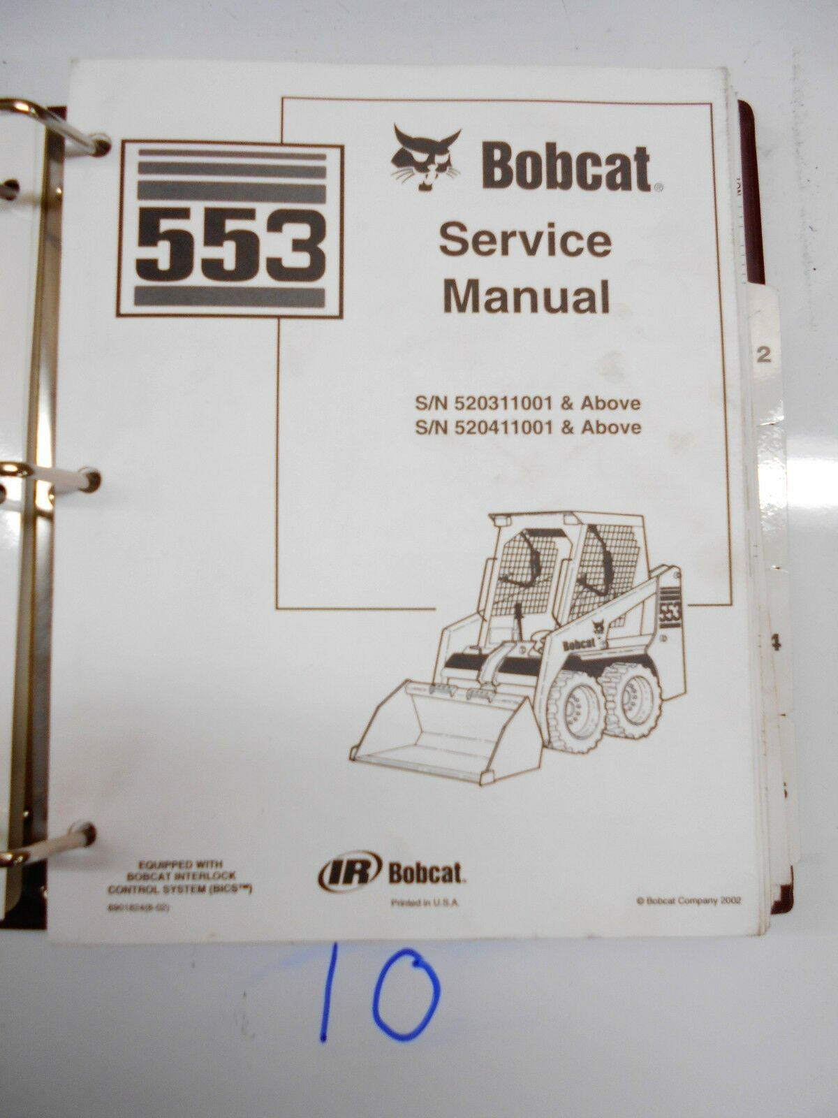 Bobcat 553 Skid Steer Loader Service Manual 1 of 2Only 1 available See More