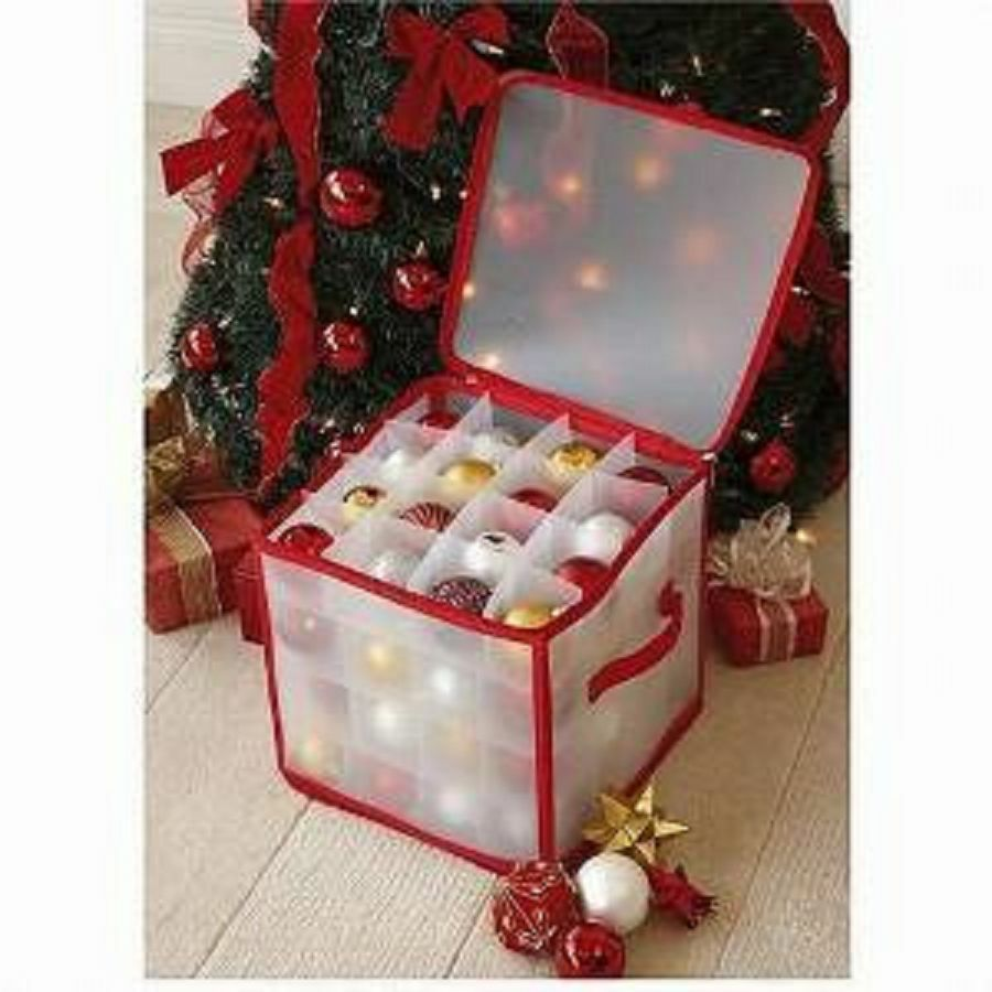 New christmas tree bauble decorations storage box holds