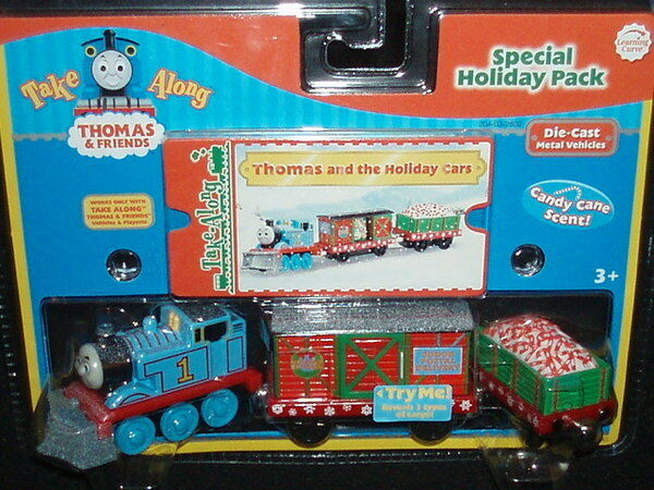 new thomas friends take along holiday christmas pack die cast train and cars 1 of 1only 3 available see more