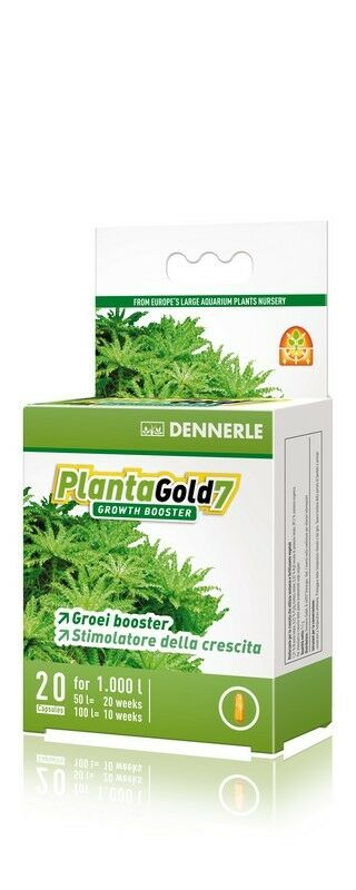 Dennerle Plantagold 7 Enzyme Based Growth Booster for Aquarium Plants Iron 20pcs