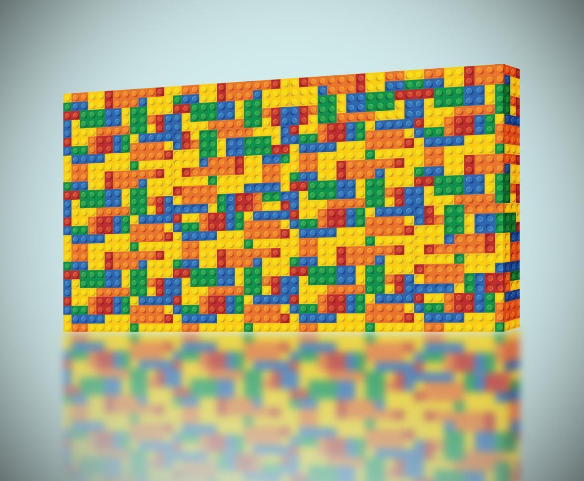 LEGO BRICKS CANVAS PRINT Wall Art Home Decor Giclee *4 Sizes* CA104 ...