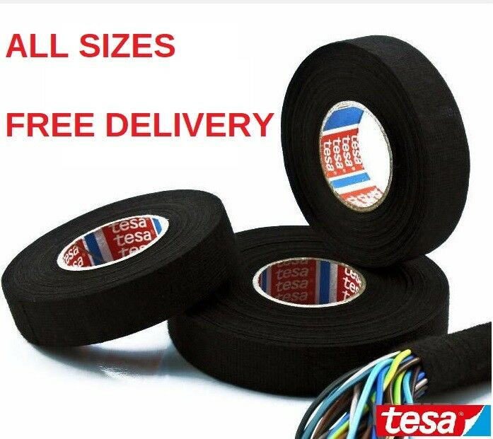 Tesa Tape 51608 Adhesive Cloth Fabric Wiring Loom Harness 25mm 19mm 15mm 9mm 1 Of 1free Shipping