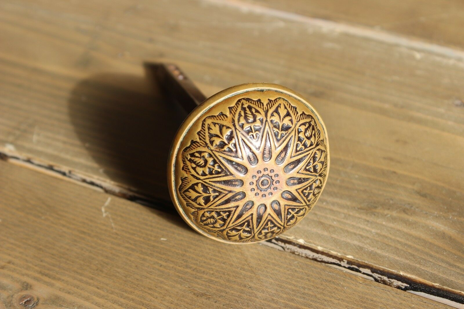 Antique Vintage Ornate Brass Scroll Door Knob