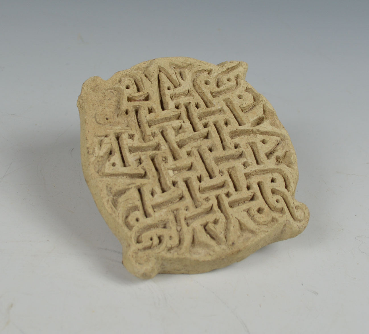 Ancient world rare geometric pottery stamp Ancient near east