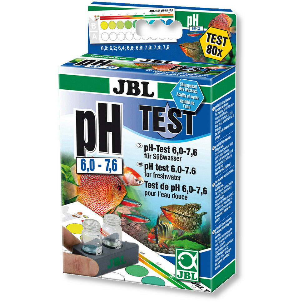 JBL pH Test Kit Set 6.0-7.6 for Fresh Water Aquariums Low Range Soft Water