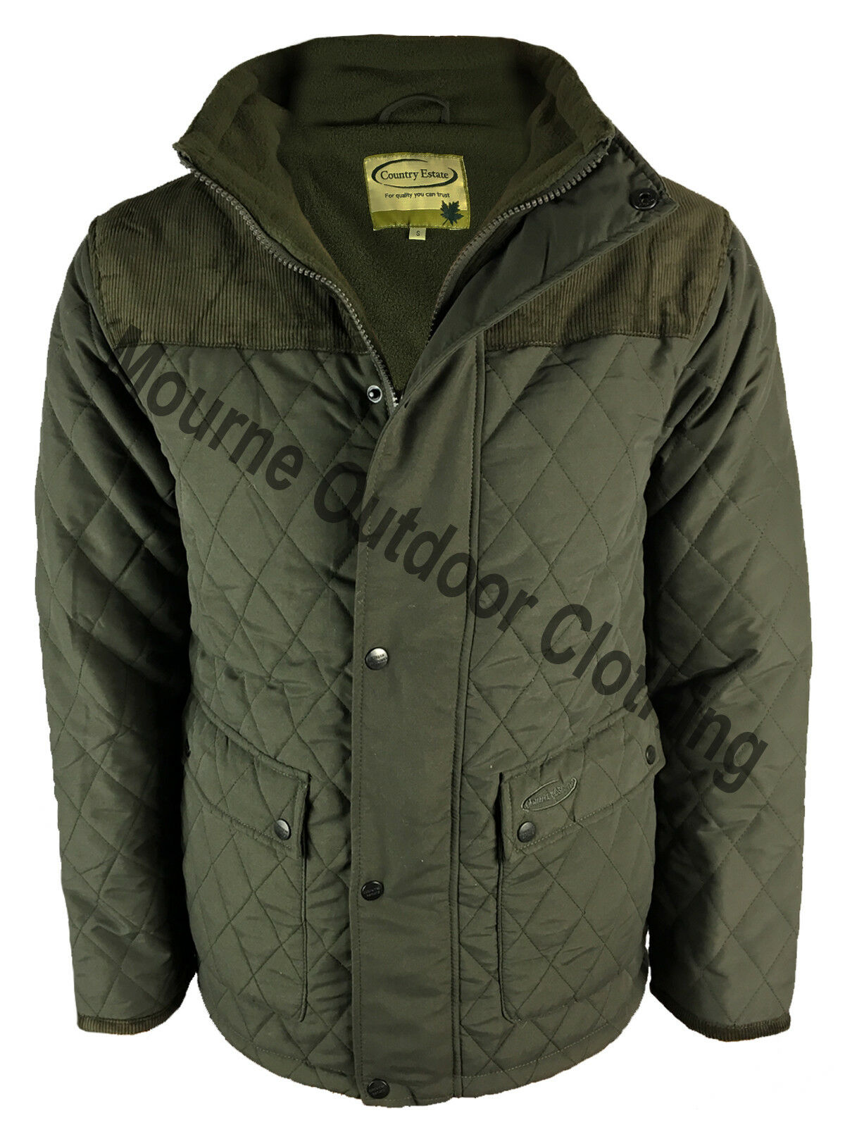 Mens Country Estate Lewis Fleece Lined Quilted Jacket 3312