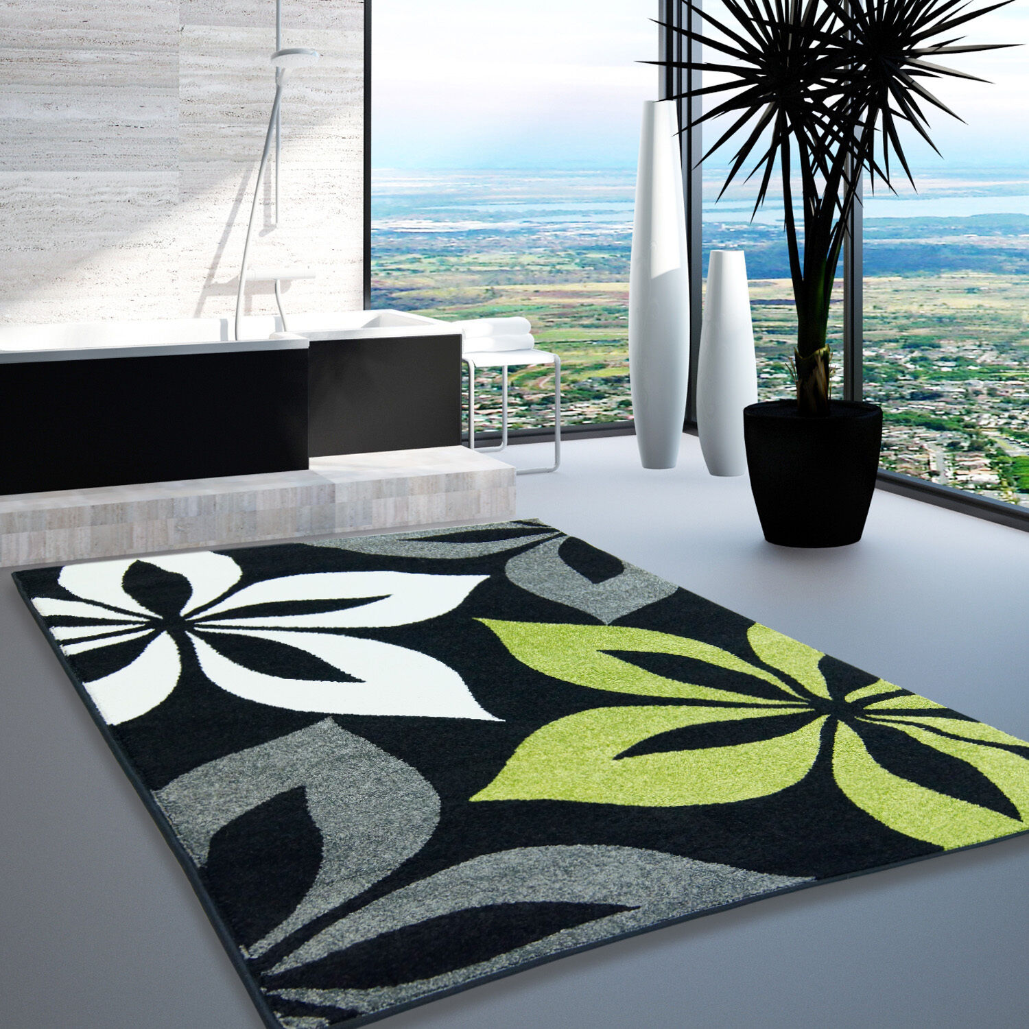 Tapis salon gris design maison design for Salon gris design