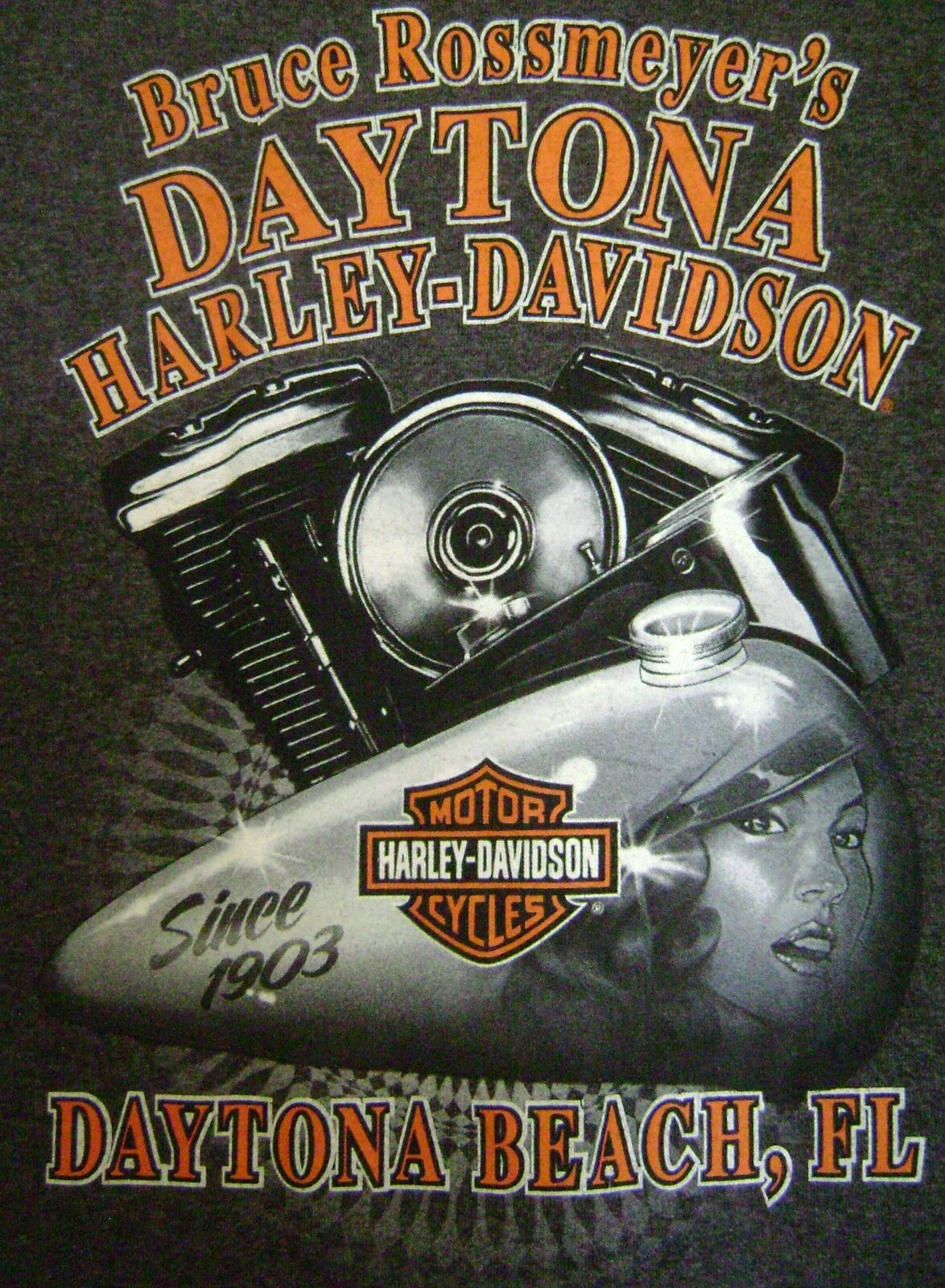 Daytona Beach Harley Davidson T Shirt Rossmeyer S Motorcycle Sleeveless Small 1 Of 4only Available