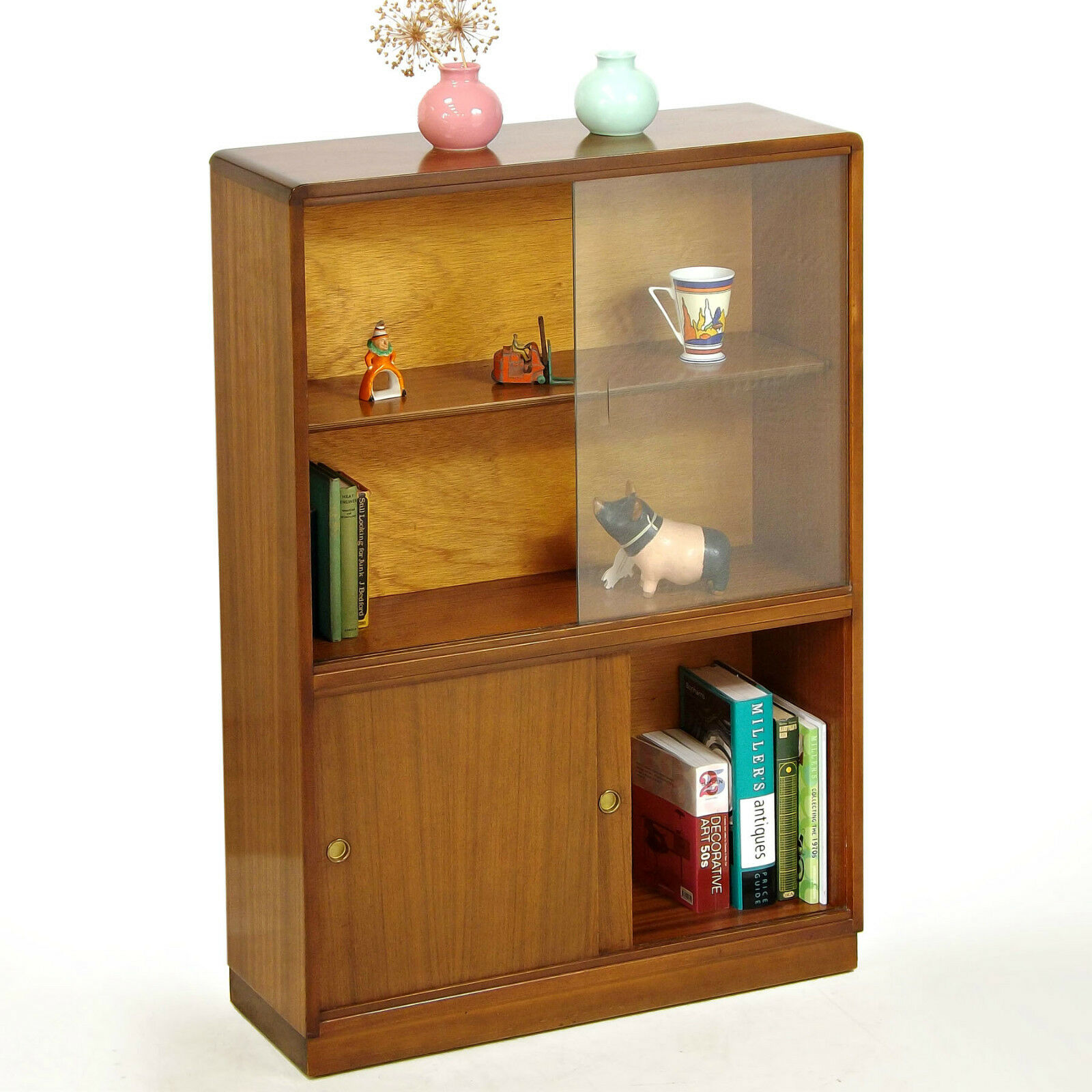 Bookcase / Cabinet - Glazed, Teak, Roseberry, 1960s, Retro (delivery available)