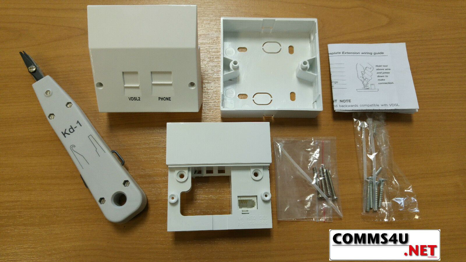 Bt Master Telephone Socket Vdsl Fibre Broadband Faceplate Complete Sockets Wiring 1 Of 4free Shipping