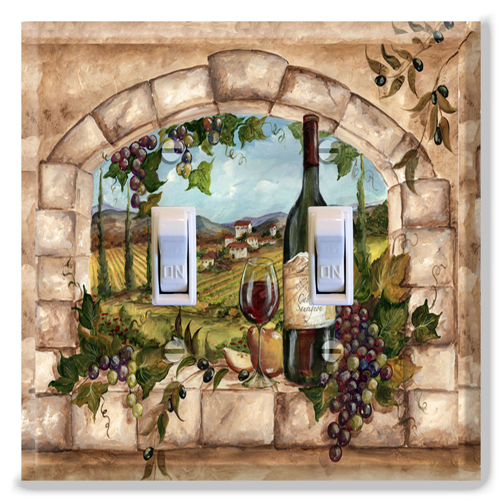 Light Switch Plate Cover Tuscan Wine Bottle G Kitchen Home Decor 1 Of See More