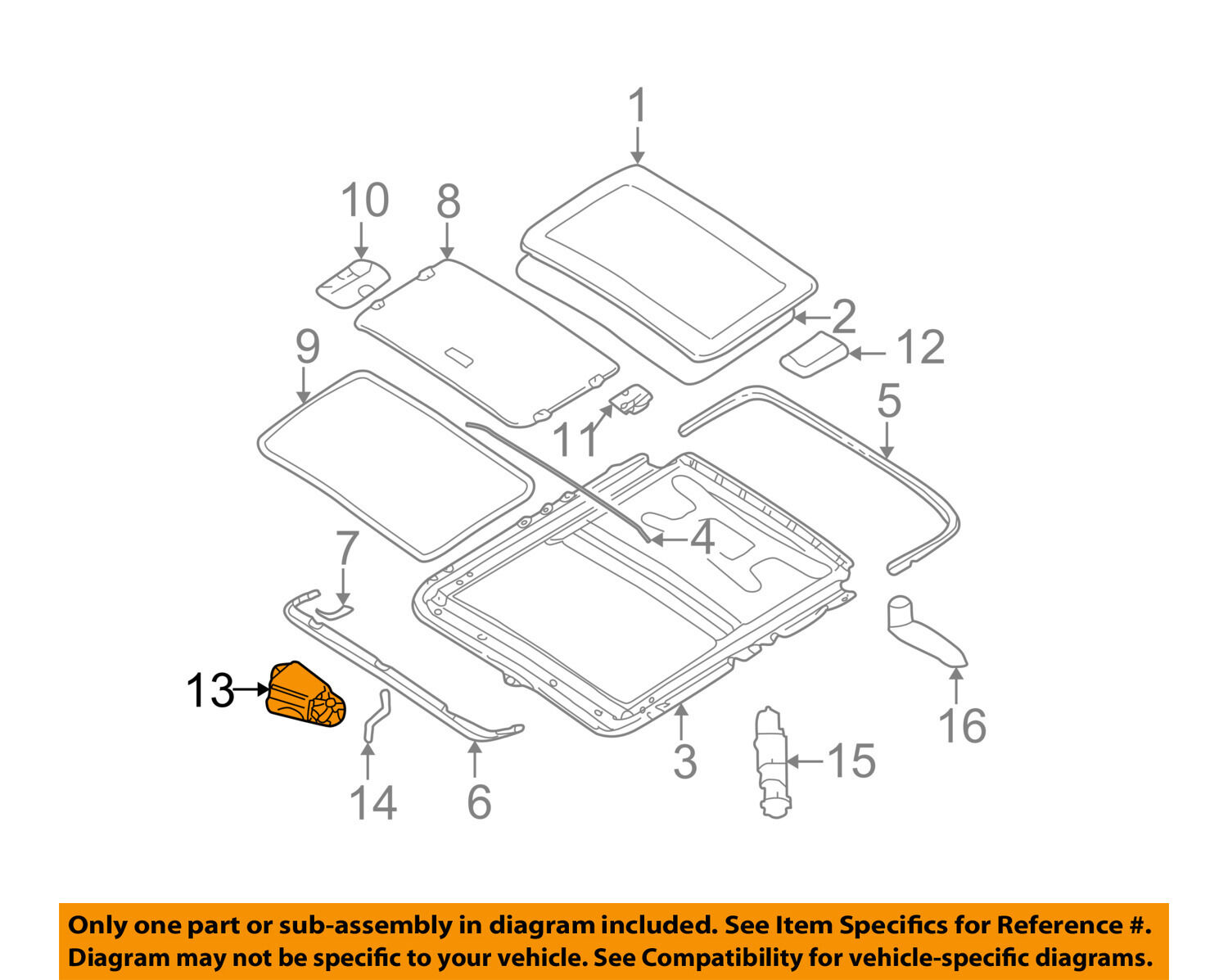 Bmw Oem 04 06 325ci Sunroof Moon Roof Motor 67616928756 47301 330ci Engine Diagram 1 Of 2only Available