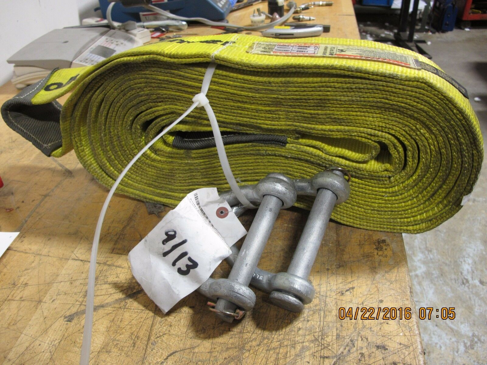 1 57m In Feet And Inches 4 2 Ply 27 Foot Nylon Lift Sling Choker Recovery Strap